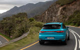 Porsche Macan Turbo 2019 road test review - cornering rear