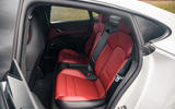 Porsche Taycan 2020 road test review - rear seats