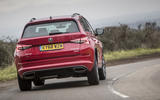 Skoda Kodiaq vRS 2019 road test review - on the road rear