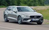 Volvo V60 2018 road test review cornering front
