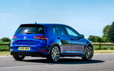 Volkswagen Golf R 2019 road test review - cornering rear