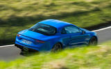 Alpine A110 2018 road test review on the road high angle