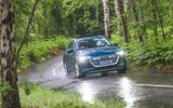 Audi E-tron 55 Quattro 2019 road test review - cornering front
