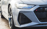 Audi RS6 Avant 2020 road test review - front air intake