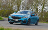 BMW 2 Series Gran Coupe 2020 road test review - cornering front