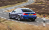 BMW M5 2018 review cornering rear