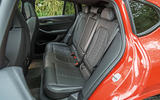 BMW X4 M Competition 2019 road test review - rear seats