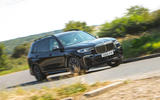 BMW X7 2020 road test review - cornering front