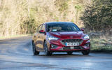 Ford Focus ST-line X 2019 road test review - cornering front