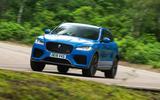 Jaguar F-Pace SVR 2019 road test review - OTR front