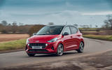 Hyundai i10 2020 road test review - cornering front