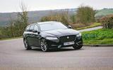 Jaguar XF Sportbrake 2019 road test review - cornering front
