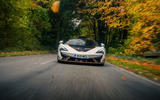 23 McLaren 620R 2021 road test review hero nose