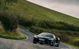 23 McLaren GT 2021 road test review cornering front