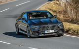 Mercedes-AMG GT four-door Coupé 2019 road test review - cornering front