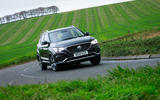 MG ZS EV 2019 road test review - cornering front