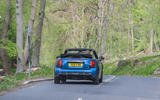 23 Mini Convertible 2021 RT on road rear
