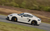 Porsche 718 Cayman GTS 2018 review on the road left