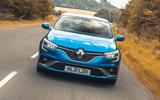 23 Renault Megane E Tech PHEV road test 2021 on road nose