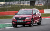Skoda Kodiaq vRS 2019 road test review - cornering front