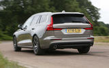 Volvo V60 2018 road test review cornering rear