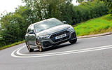 Audi A1 S Line 2019 road test review - cornering front
