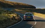 Audi A8 60 TFSIe 2020 road test review - cornering rear