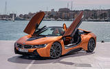 BMW i8 Roadster 2018 review static front doors