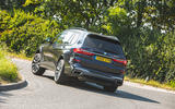 BMW X7 2020 road test review - cornering rear