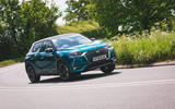DS 3 Crossback 2019 road test review - cornering front
