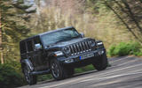 Jeep Wrangler 2019 road test review - cornering front