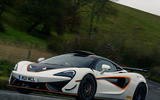 24 McLaren 620R 2021 road test review otr front