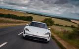 Porsche Taycan 2020 road test review - on the road nose