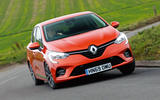 Renault Clio 2019 road test review - cornering front