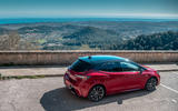 Toyota Corolla hybrid hatchback 2019 road test review - static rear
