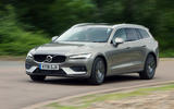 Volvo V60 2018 road test review on the road left