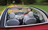 Fiat 500C roof open