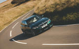 Alpina B3 Touring 2020 road test review - cornering front