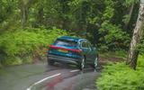 Audi E-tron 55 Quattro 2019 road test review - cornering rear