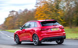 Audi RS Q3 2020 road test review - cornering rear