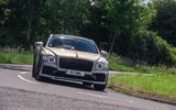 Bentley Flying Spur 2020 road test review - cornering front