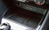 Cupra Ateca 2019 road test review - smartphone charging