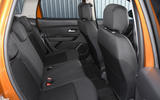 Dacia Duster 2018 road test review rear seats
