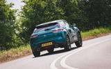 DS 3 Crossback 2019 road test review - cornering rear