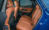 Jaguar E-Pace review rear seats