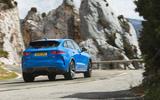 Jaguar F-Pace SVR 2019 first drive review - cornering rear
