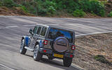 Jeep Wrangler 2019 road test review - cornering rear