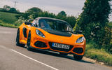 25 Lotus Exige Spot 390 Final 2021 RT cornering rear