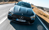 Mercedes-AMG GT four-door Coupé 2019 road test review - on the road nose