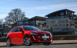 Peugeot e-208 2020 road test review - static